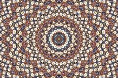 Abstracte fractal achtergrond - camomiles en parels Stock Foto
