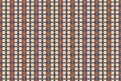 Abstracte fractal achtergrond - camomiles en parels Stock Foto's