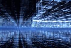 Abstracte fractal achtergrond, 3D-illustratie Stock Afbeelding