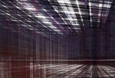 Abstracte fractal achtergrond, 3D-illustratie Stock Fotografie