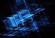 Abstracte fractal achtergrond, 3D-illustratie Stock Foto's
