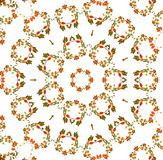 Abstracte fractal achtergrond - de herfstbladeren Stock Fotografie