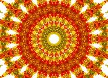 Abstracte fractal achtergrond - de herfstbladeren Stock Foto