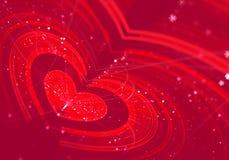 Abstracte fractal achtergrond, hart, liefde, Stock Foto