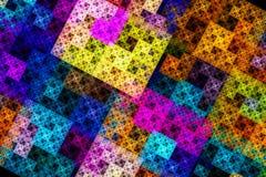 Abstracte Fractal Achtergrond Abstracte het schilderen veelkleurige textuur vector illustratie