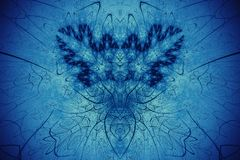 Abstracte Fractal Achtergrond Hoogst gedetailleerde achtergrond golowich en blauwe tonen met elementen van spiralen, lijnen en pa Royalty-vrije Stock Foto's
