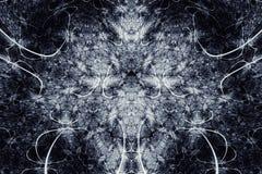 Abstracte Fractal Achtergrond Hoogst gedetailleerde achtergrond in grijze tonen met elementen van spiralen, lijnen en patronen Wa Royalty-vrije Stock Foto