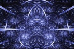 Abstracte Fractal Achtergrond Hoogst gedetailleerde achtergrond met purpere en roze kleuren met elementen van spiralen, lijnen en Royalty-vrije Stock Foto's