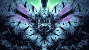 Abstracte Fractal Achtergrond Hoogst gedetailleerde achtergrond met purpere en roze kleuren met elementen van spiralen, lijnen en Stock Fotografie