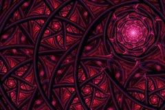 Abstracte fractal achtergrond, spiraal Royalty-vrije Stock Afbeelding