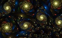 Abstracte fractal achtergrond, spiraal Stock Foto