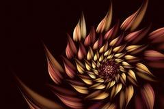 Abstracte fractal achtergrond, spiraal, bloem Royalty-vrije Stock Afbeeldingen