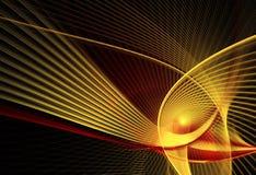 Abstracte fractal achtergrond, textuur, 2D illustratie Royalty-vrije Stock Fotografie