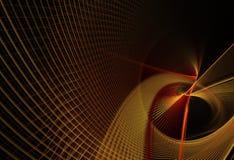 Abstracte fractal achtergrond, textuur, 2D illustratie Stock Foto