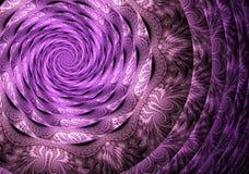 Abstracte fractal achtergrond, textuur, illustratie, spiraal Stock Foto's