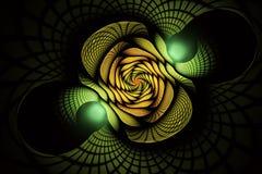 Abstracte fractal achtergrond, textuur, spiraal Stock Fotografie