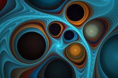 Abstracte fractal bellen Royalty-vrije Stock Afbeelding