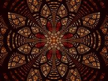 Abstracte fractal bloem of mandala - digitaal geproduceerd beeld vector illustratie