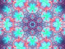 Abstracte fractal bloemen in gebieden vector illustratie