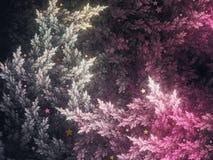 Abstracte fractal bomen Royalty-vrije Stock Foto's