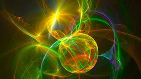 Abstracte fractal 3d teruggevende animatie als achtergrond Naadloze lijn stock illustratie