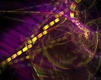 Abstracte fractal, decoratief magisch licht malplaatjeontwerp, werveling stock illustratie
