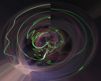 Abstracte fractal, decoratieve magisch maakt malplaatjeontwerp, werveling vector illustratie