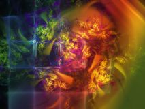 Abstracte fractal die decor maken buitensporig visueel harmonisch dynamisch ontwerp stock illustratie