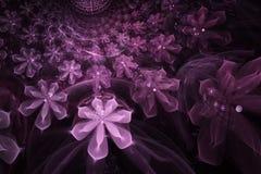 Abstracte fractal door de computer geproduceerde bloem Stock Afbeeldingen