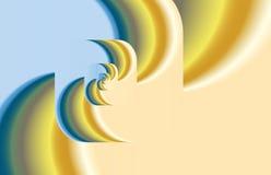 Abstracte fractal draai als embleem, achtergrond Stock Afbeeldingen