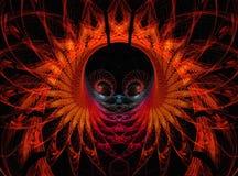 Abstracte fractal geeft achtergrond gestalte vector illustratie