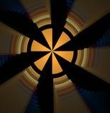 Abstracte fractal kleurde gele achtergrond Stock Fotografie