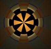 Abstracte fractal kleurde gele achtergrond Stock Foto's