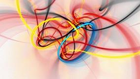 Abstracte fractal lengte voor creatief ontwerp stock illustratie