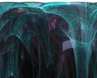 Abstracte fractal, licht van de de creativiteitfantasie van de stijlachtergrond modern dynamisch het malplaatjeontwerp, werveling stock illustratie