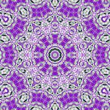 Abstracte fractal mandala stock illustratie
