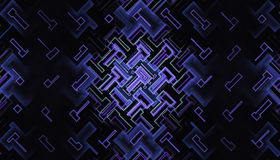 Abstracte fractal met gloeiende kringen vector illustratie