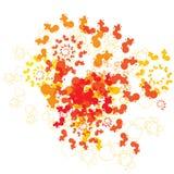 Abstracte fractal moderne achtergrond Stock Foto