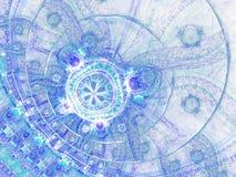 Abstracte fractal oceaan Stock Foto's
