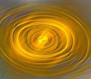 Abstracte fractal ovale vorm als achtergrond Gouden schaduwen Royalty-vrije Stock Afbeelding