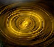 Abstracte fractal ovale vorm als achtergrond Gouden schaduwen Stock Afbeelding