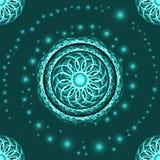 Abstracte fractal samenstelling op blauwe achtergrond royalty-vrije illustratie