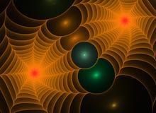 Abstracte fractal spiderwebs achtergrond vector illustratie