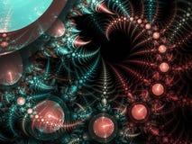 Abstracte fractal spiraal Stock Afbeelding