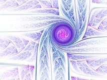 Abstracte fractal spiraal Stock Fotografie