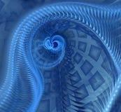 Abstracte fractal spiraal Stock Afbeeldingen