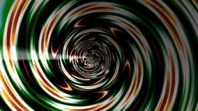 Abstracte fractal tunnel stock video