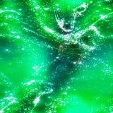 Abstracte fractal verlichting van groene vloeistof vector illustratie