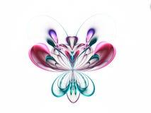 Abstracte fractal vlinder Royalty-vrije Stock Afbeeldingen