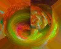 Abstracte fractal vormeffect creatieve dynamische mooie ontwerpmotie, glanzende werveling, stock illustratie